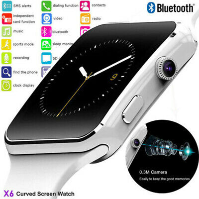 NEW X6 Curved Screen Bluetooth Smart Watch Phone Mate for Samsung//Android/iOS