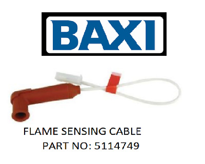 New Baxi Interpart Flame Sensing Cable Lead 5114749 Genuine