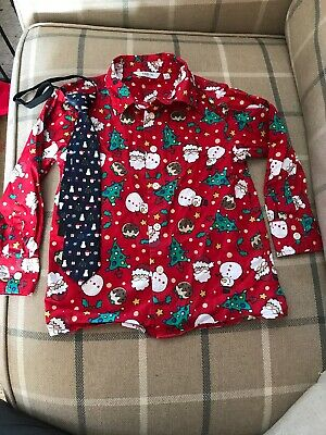 Boys 5-6yr Christmas Shirt And Tie