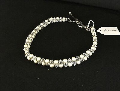 Pearl and Crystal Choker Necklace