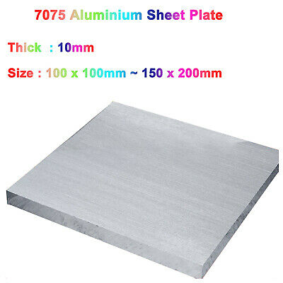 Aluminium Sheet Plate 7075 Various Sizes And 10 Thicknesses 100x100mm 150x200mm