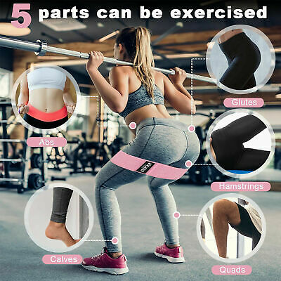 Non Slip Yoga Resistance Band Heavy Duty Booty Bands Fabric Fitness Equipment UK