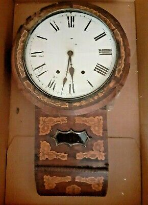 Drop dial clock for restoration or parts - condition and postage update (15/11)