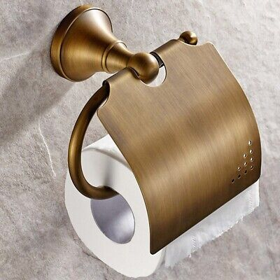 Antique Bathroom Accessories Brass Toilet Roll Paper Holder Lavatory Access W9Y4