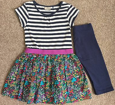Next Stripe And Print Dress And Leggings Set, Size 7 Years