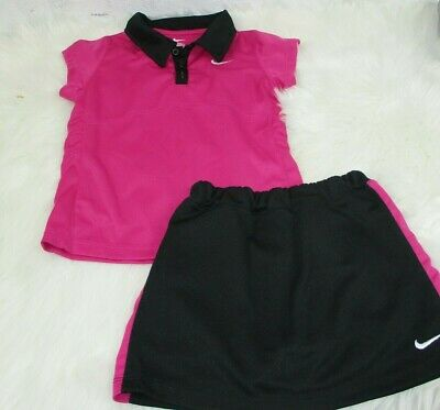 Nike Girls Outfit 2 Piece Shirt Skirt Size 6X
