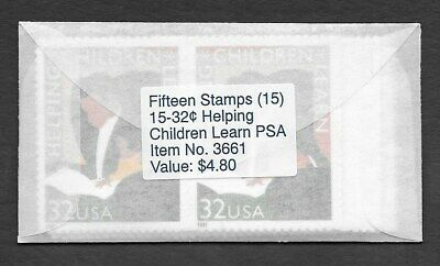 US MAKESHIFT VENDING ENV, w/15 SCOTT #3125 CHILDREN LEARN, MNH, UNOPENED (E37)