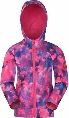 Mountain Warehouse Exodus Kids Printed Softshell Jacket - Wind Resistant Shell J