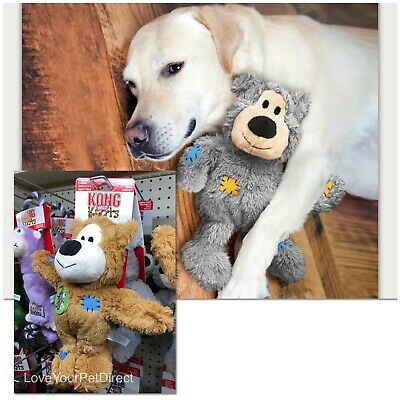 KONG Dog Toy Wild Knots Bear Dog Puppy Strong Knotted Rope Squeaky Plush Toy
