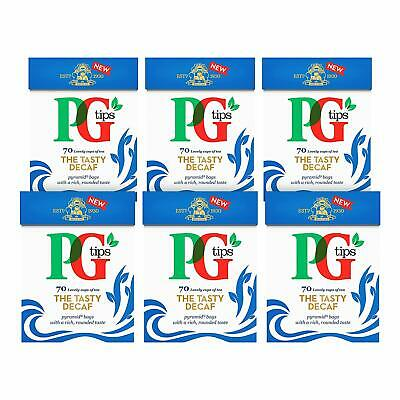 PG Tips The Tasty Decaf 70 Pyramid Tea Bags (Pack of 6, Total 420) MARCH 2020