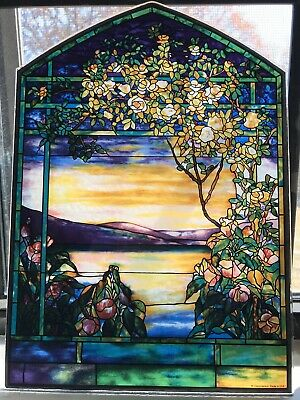 "RARE Glassmasters Stained Glass, 8 ½"" X 12"""