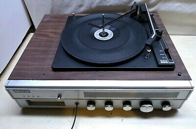 Seville FM/AM Radio Receiver 8 Track Player, BSR Record Player Turntable