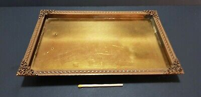 Antique c1900 brass picture frame wall or table fits 16 x 10cm photograph French