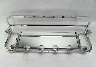 105 cm - Art Deco Wall Coat Rack - Aluminium Wardrobe - Coat Rack