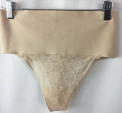 Maidenform Shaping Thong Panties DM0049 Size Medium Beige Tame Your Tummy D31