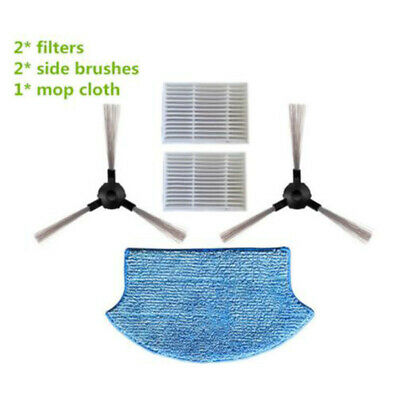 Cleaning Side Brush Filters Mopping/Cloth Kit Replacement For Midea VCR15 VCR16
