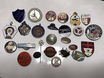 Job Lot Collection Of 26 Assorted Badges Gaunt Fattorini Music Medals Sport