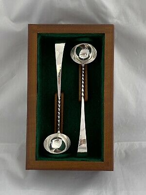 Pair Of SCOTTISH Silver Toddy Ladles 1986 EDINBURGH Tony M Holland