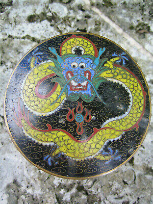 Antique Cloisonne Canister Humidor Dragon Jar