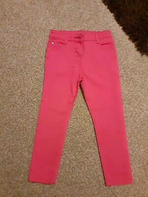 Girls Bright Cerise Pink Trousers Age 4yrs