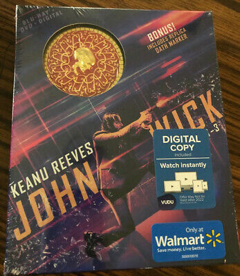JOHN WICK Chapter 1 2 & 3 Parabellum EXCLUSIVE Blu-ray bonus replica oath marker