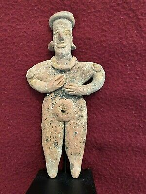 Pre-Columbian Colima Standing Female Flat Figure 100 BC - 250 AD. FREE SHIPPING