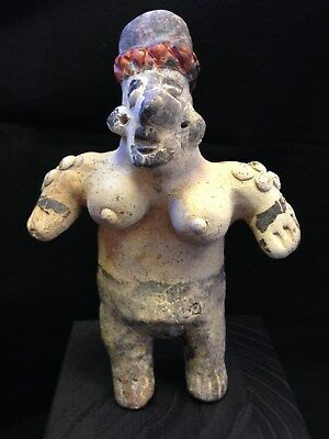 Pre-Columbian Jalisco, Mexico, Standing Female Figure, 100 BC - 250 AD