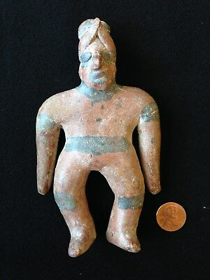 Pre-Columbian Colima Shaman Flat Figure, ca. 200 BC - 250 AD, West Mexico