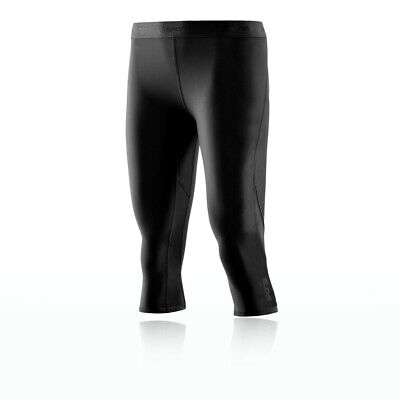 Skins Womens DNAmic Compression 3/4 Tights Bottoms Pants Trousers Black Sports