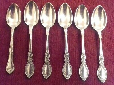 A set of unboxed 5 Silver plated oval tipped teaspoons plus 1 marked 12.5cm