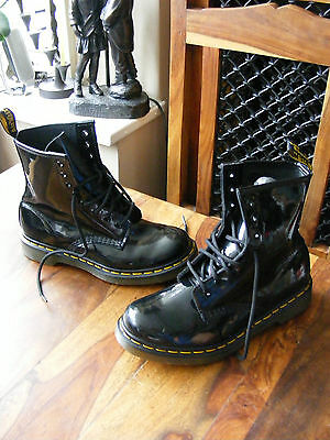 Black Leather Ladies Womens Girls Dr Martens 1460 W Ankle Boots UK 5 EU 38 US 7