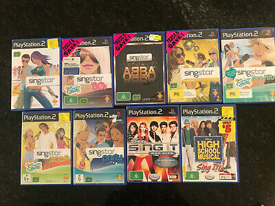 Singstar. Assorted Playstation 2 Singstar Games Pick Your Titles PS2 Preowned