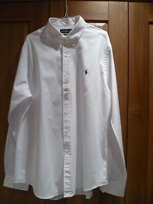Mens Genuine Ralph Lauren Long Sleeve White Shirt size XL New with Tags
