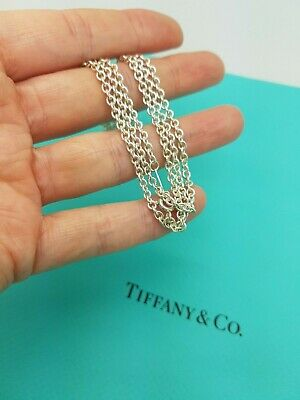 Tiffany & Co RARE Sterling Silver 2.7 mm link 24 Inches chain necklace