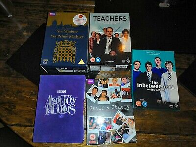5 DVD Comedy Boxsets Ab FAB, Inbetweeners, Yes Minister, Gavin & Stacey,...