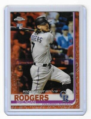 2019 Topps Chrome Update BRENDAN RODGERS Orange Refractor RC SSP #8/25