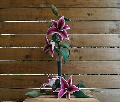 Stargazer Lily - Needle Felting Project, Kit, Templates and Tutorial