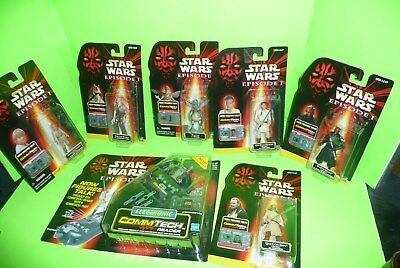 box#14Hasbro 1998 Star Wars Episode I  6 Figures And  CommTech Reader