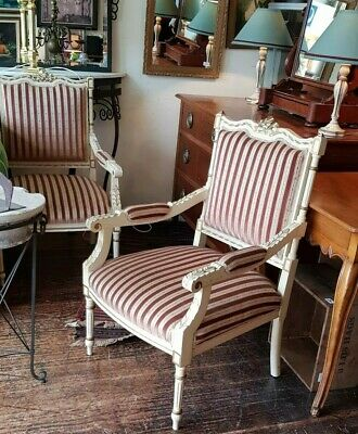 French Armchairs Antique Fauteuils Made in France Louis XVI