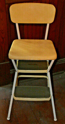 Vintage Step Stool Chair lift seat