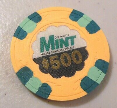 VINTAGE CASINO CHIP $500. DEL WEBB'S MINT CASINO LAS VEGAS  #N7174 used