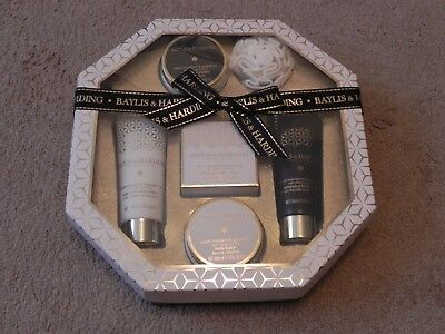 Baylis & Harding England Signature Collection Bath Gift Set - 6 Pc NEW in Box