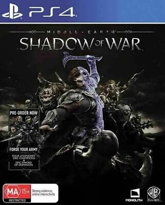 Middle Earth: Shadow of War PS4 Playstation 4 GAME GREAT CONDITION