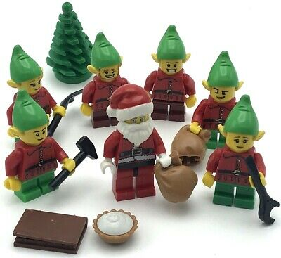 LEGO 3 Minifigure Figure Boy Girl  Elf Elve Helper/'s  Christmas Advent Santa