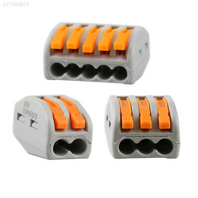 20A Terminal Block Electric Spring Lever Practical Electric Cable Connectors