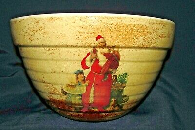 Robert Gordon Santa Claus Child Ribbed BOWL DISH RARE Australian Pottery AS NEW