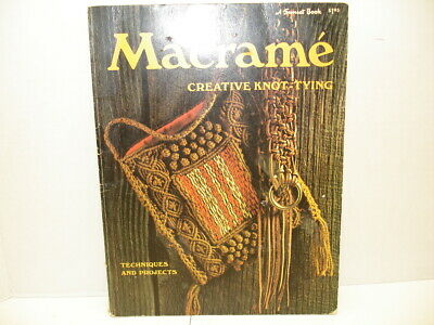 (C)  Vintage Sunset Macrame Book...1974