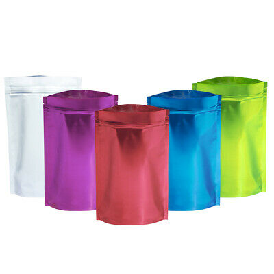 Aluminum Foil Zip Lock Bags Stand Up Mylar Food Grade Storage Package Resealable