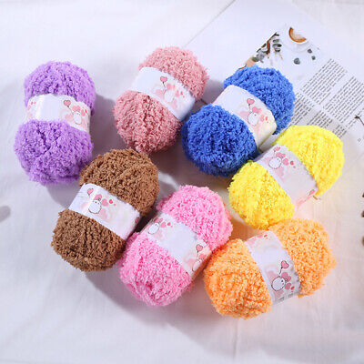 50g/Roll Knitting Wool Yarn Double Knitting Chunky Towelling Wool Ball Skeins