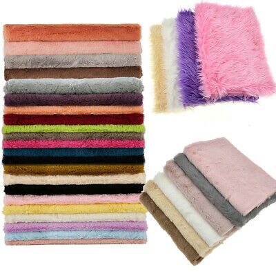 A4 Half Yard 1 Yard Faux Fur Plush Winter Fabric Sewing Home Sofa Decoration USA